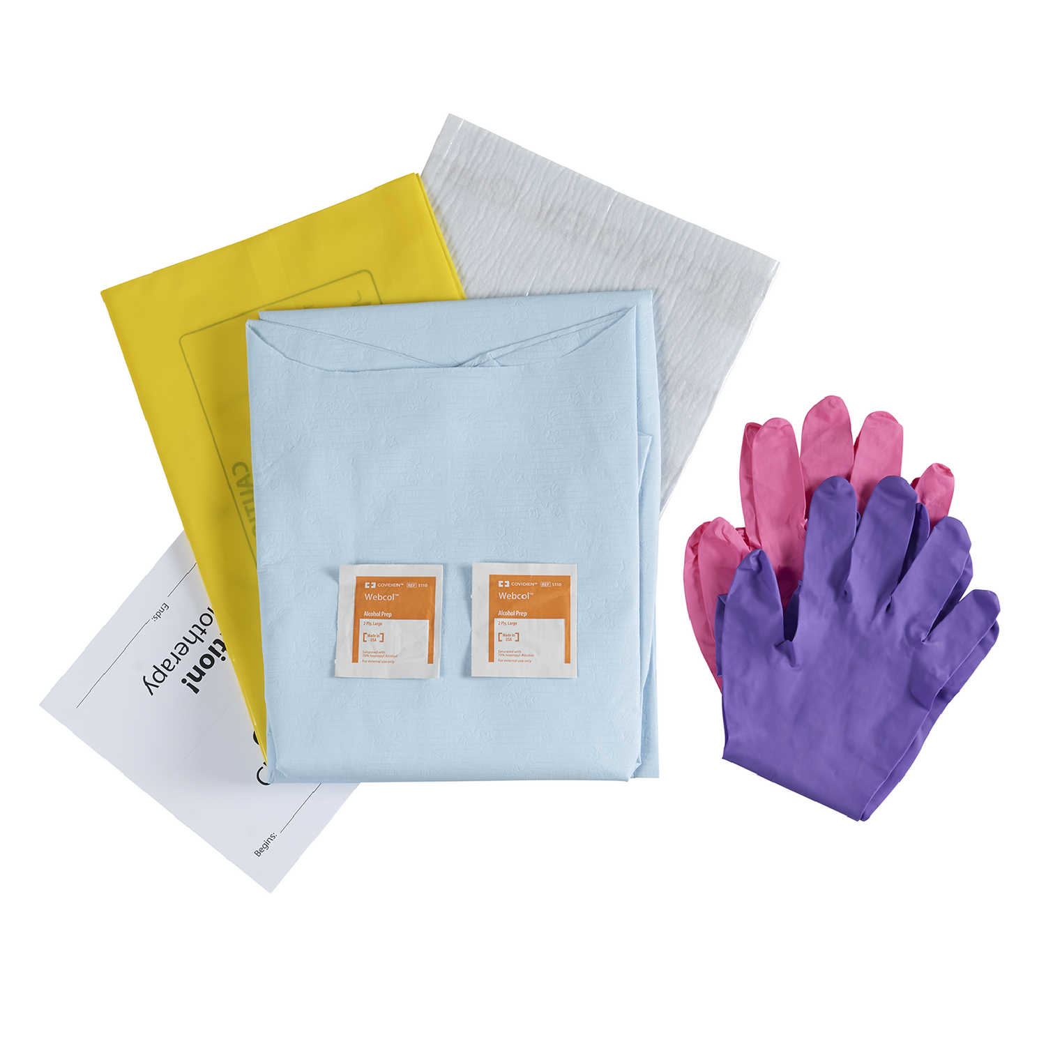 CHEMO GEAR Administration Kit For Use with Hazardous and Chemotherapy Drugs (Contents)